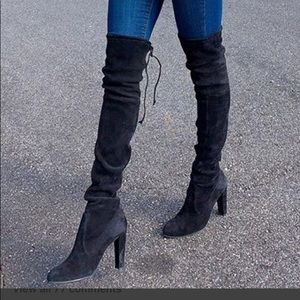 Shoes - Thigh high boots with heel